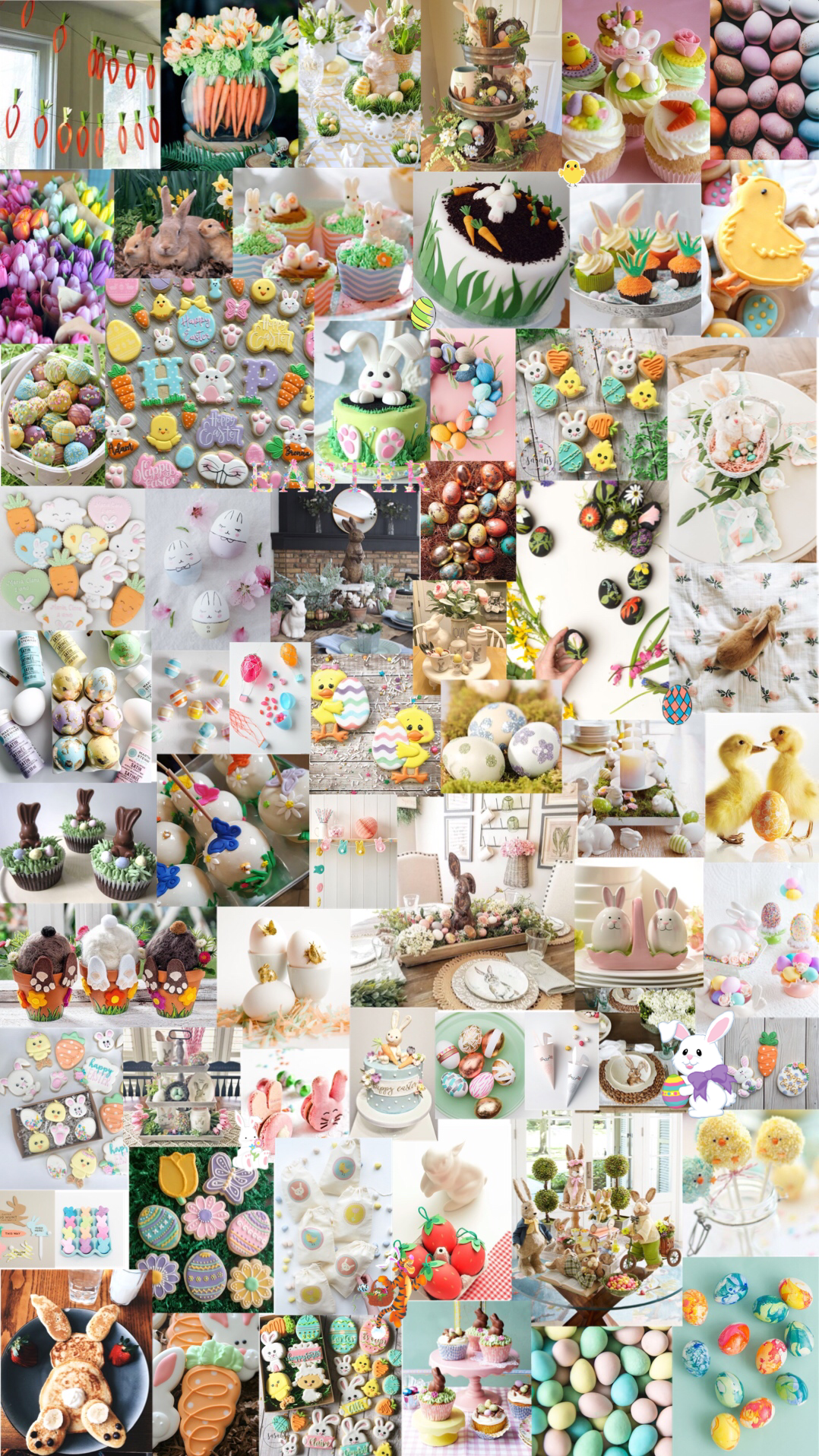 Easter Aesthetic Background Aesthetic Collage Spring Wallpaper