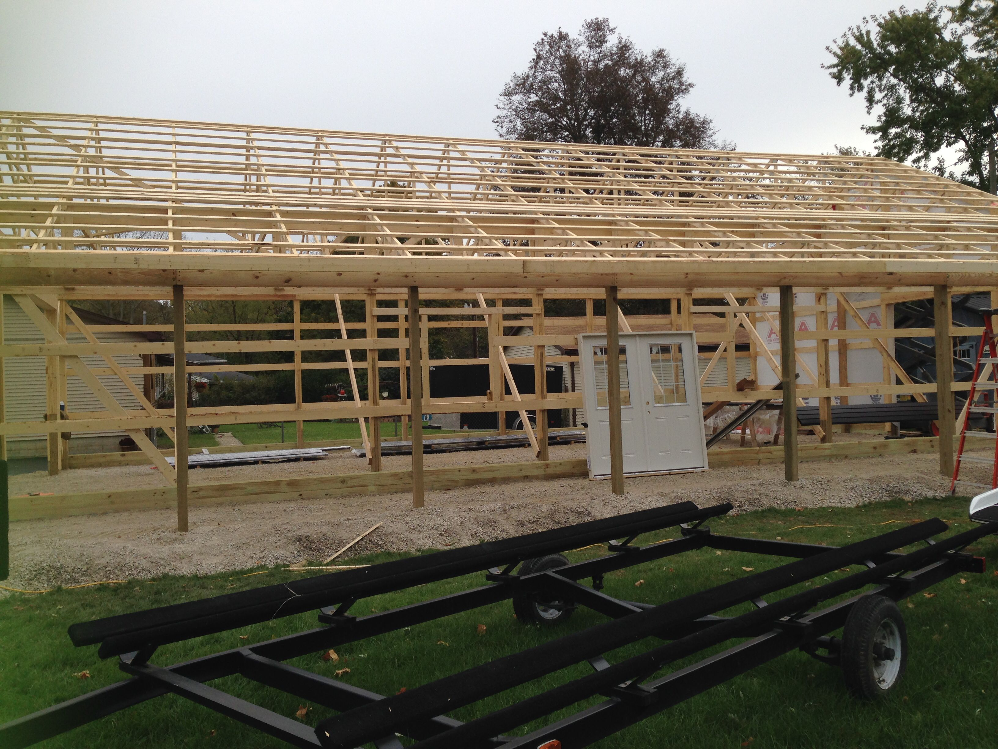 Roof Trusses Near Tiffin Roof Trusses Post Frame Building Roof Plan