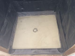 How To Build A Shower Shower Pan Installationthis Is The Second