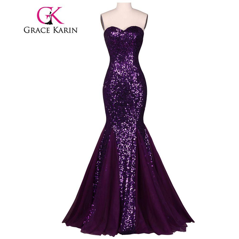 Grace karin sequin long evening dress sparkly dark salmon