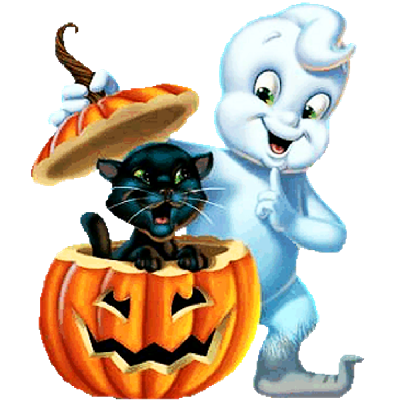 Halloween Funny Cartoon Ghosts Clip Art