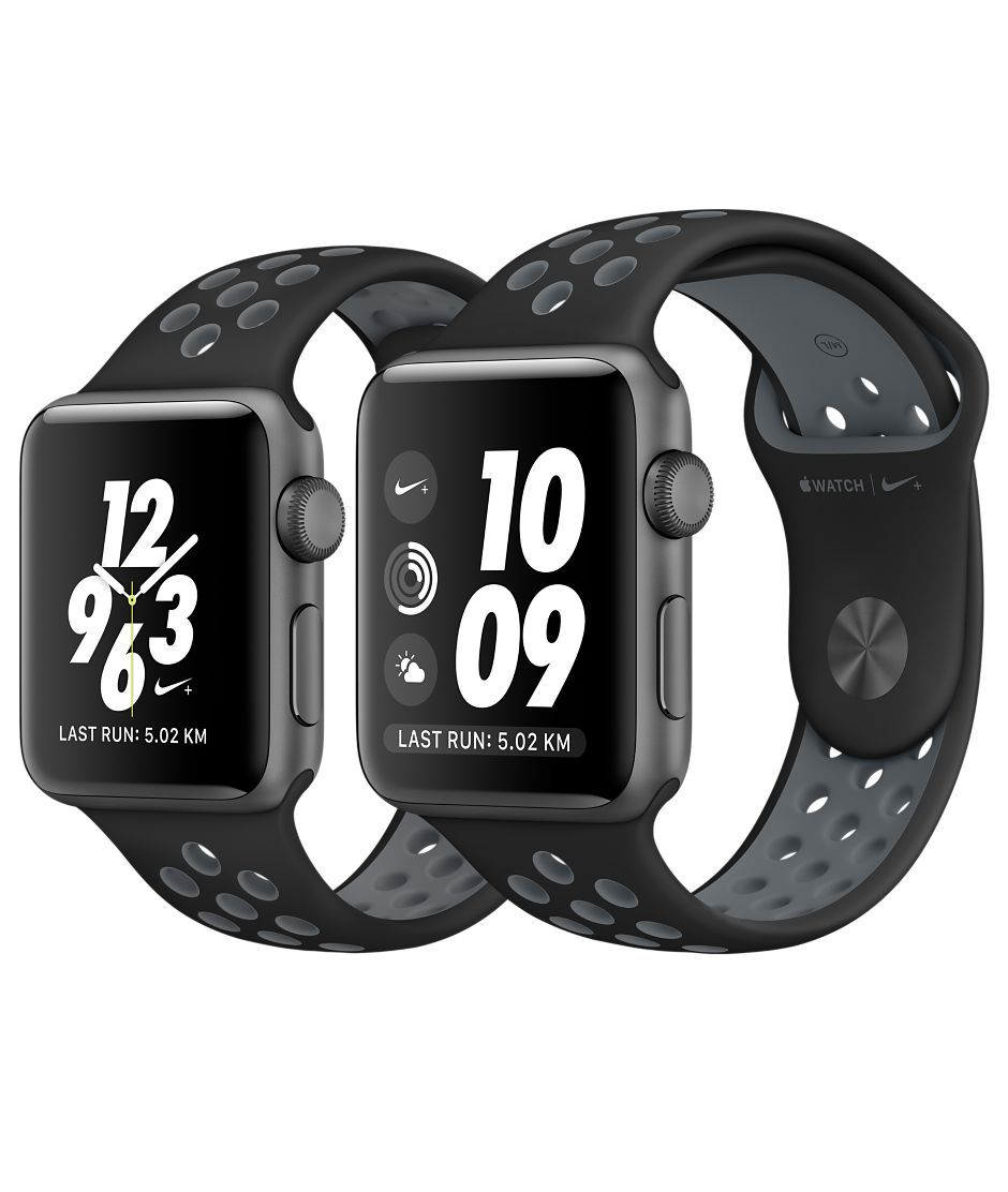 wholesale dealer 129f7 a5ef1 Shop Apple Watch Nike+ Series 2 Space Grey Aluminum in 38mm or 42mm with  built-in GPS and Nike Sport Band. Buy online and get free shipping, ...