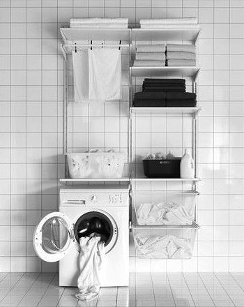 algot wall upright shelves drying rack ikea closet pinterest rh pinterest com ikea ideas laundry room ikea laundry closet