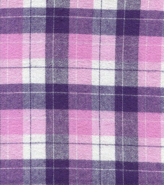 Flannel Shirting Fabric Pink Purple Flannel Shirting