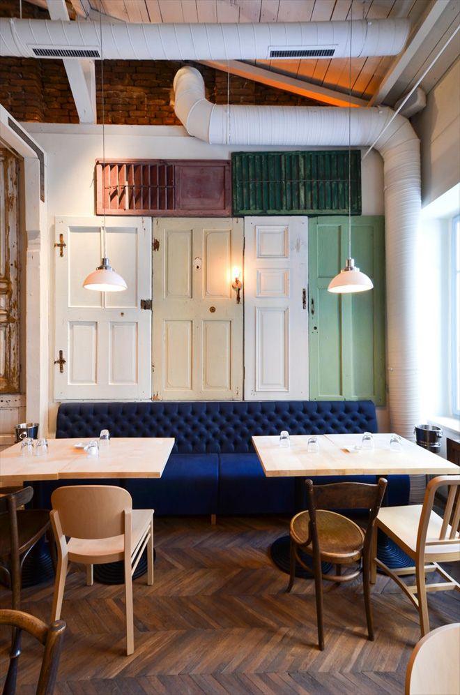Bon Restaurant In Bucharest By Cristian Corvin Urdesign Magazine Arredamento Ristorante Negozio