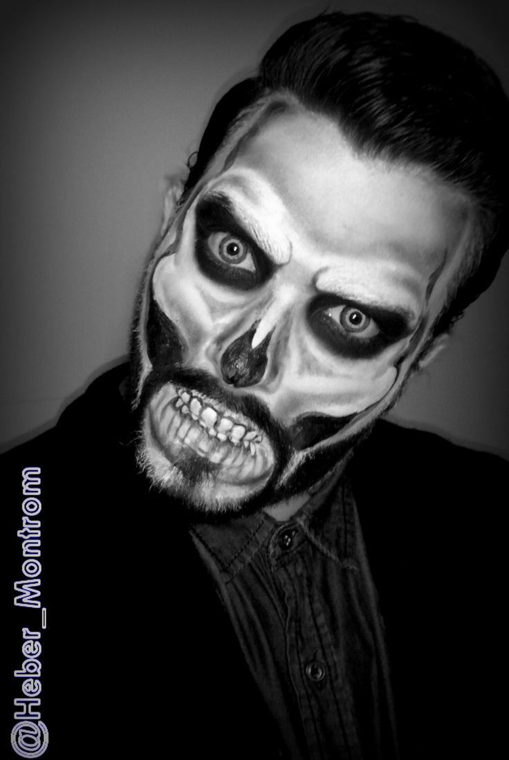Halloween Schminktipps Männer Sugar Skull With A Beard Oh Yeah I Could Paint This One On