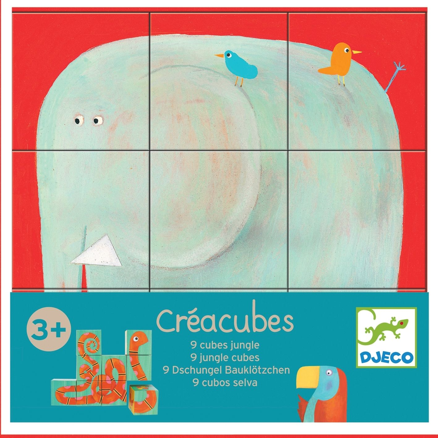 This delightful 9 cube Jungle puzzle allows you to make 6 different jungle animals using the 9 cubes in various different formations. �The animal...