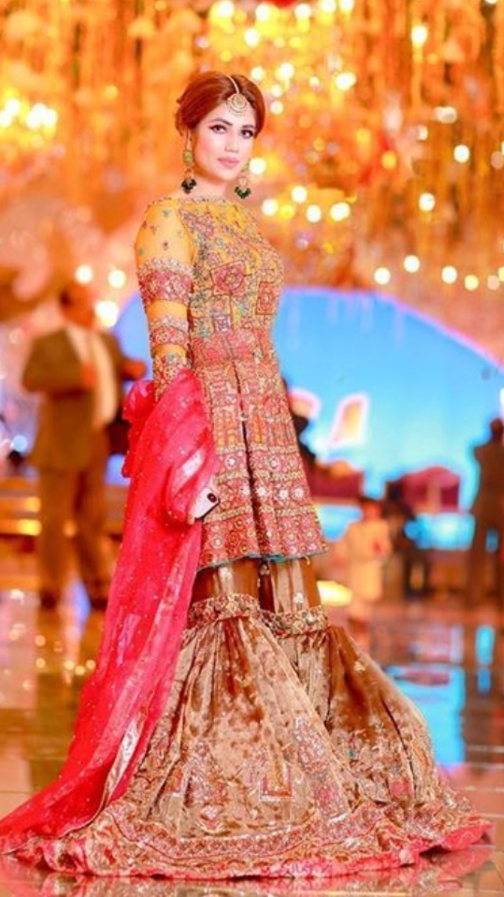 39f301ec68 Pure French silk net Pakistani bridal lehnga Panache by Umsha US UK ...