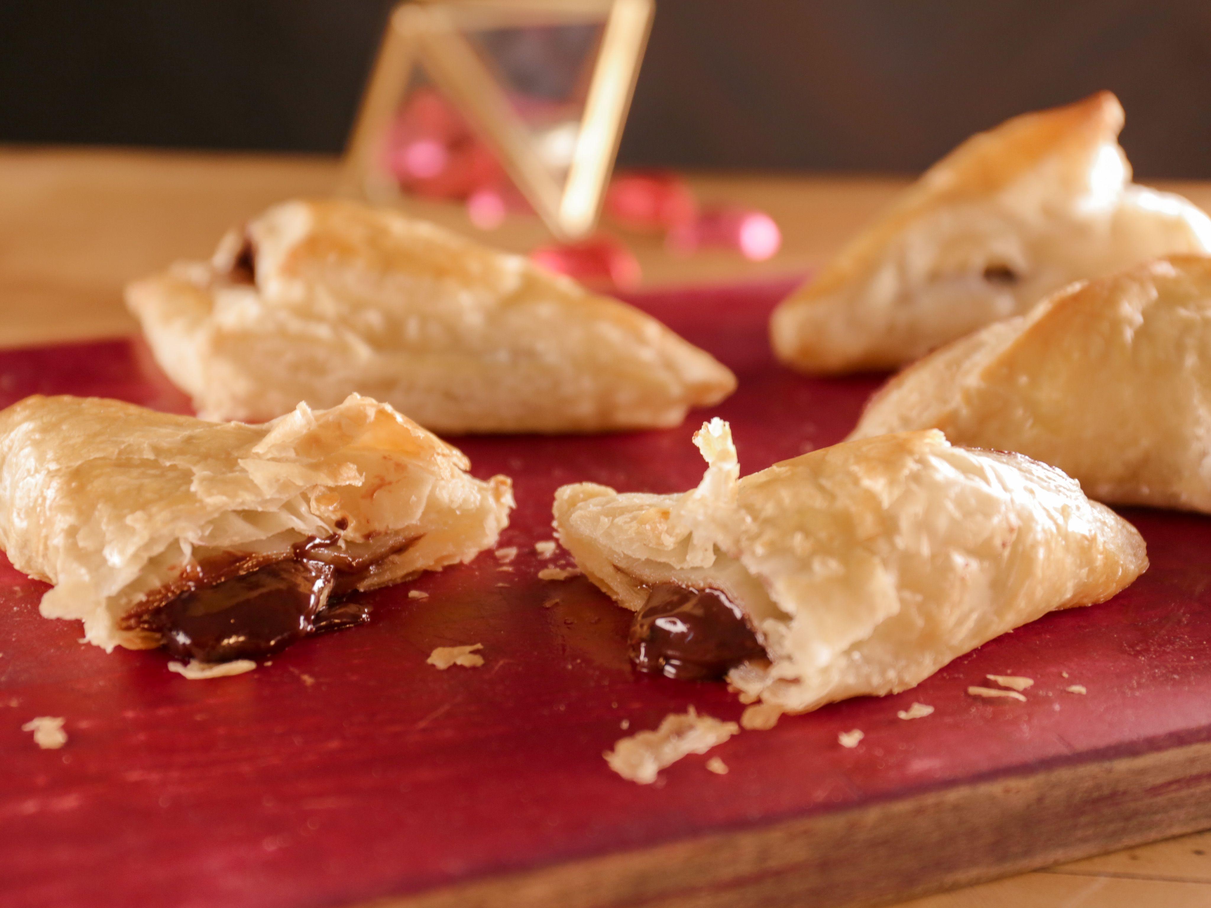 Chocolate-Hazelnut Turnovers   Recipe   Food network, Chocolate ...