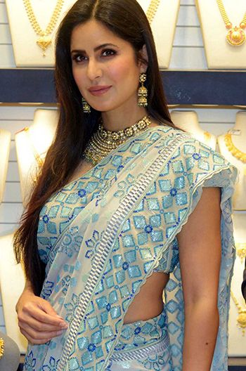 Have You Seen Katrina Kaif's Icy Blue Saree Yet?  