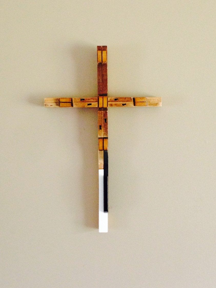 Piano parts and piano keys rustic cross art made with up for Art made with keys