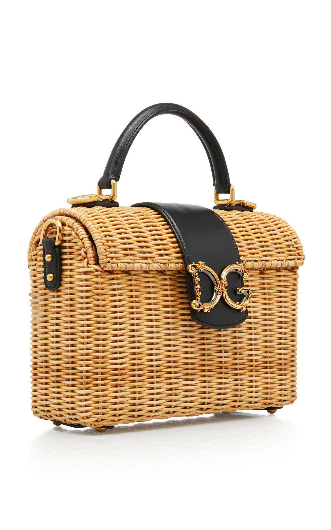 e7c30e46cbc365 Raffia Logo Basket Top Handle Bag by Dolce & Gabbana SS19 | Moda Operandi