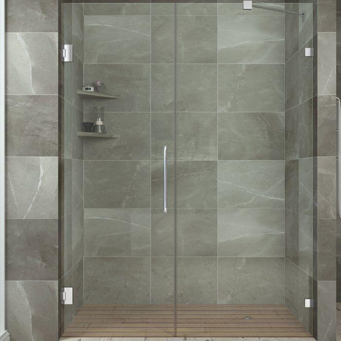 Consort 58 5 X 72 Hinged Frameless Shower Door Con Imagenes