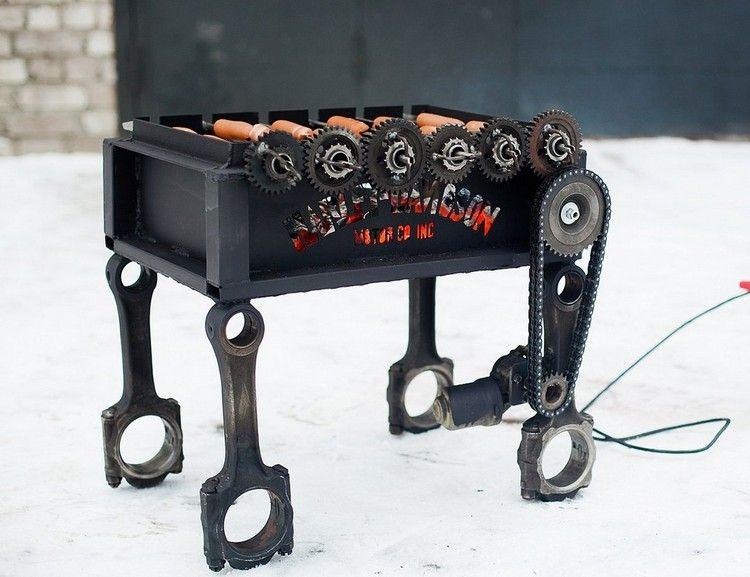 fabriquer un barbecue original en acier et métal à partir de