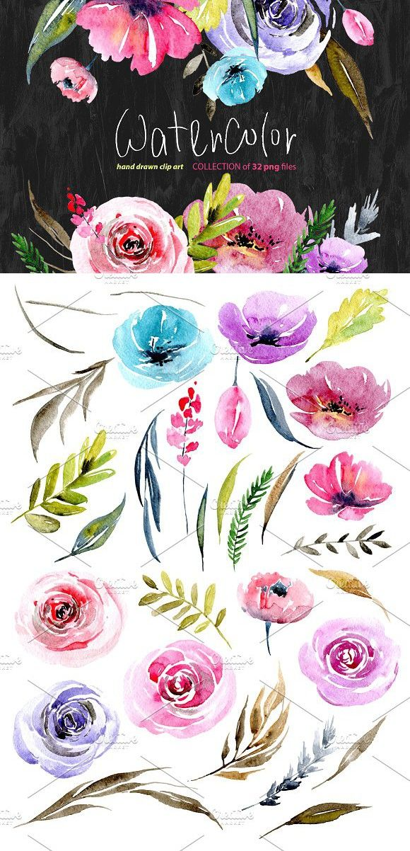 wedding card backgrounds vectors%0A Watercolour floral png elements  Wedding Card Templates