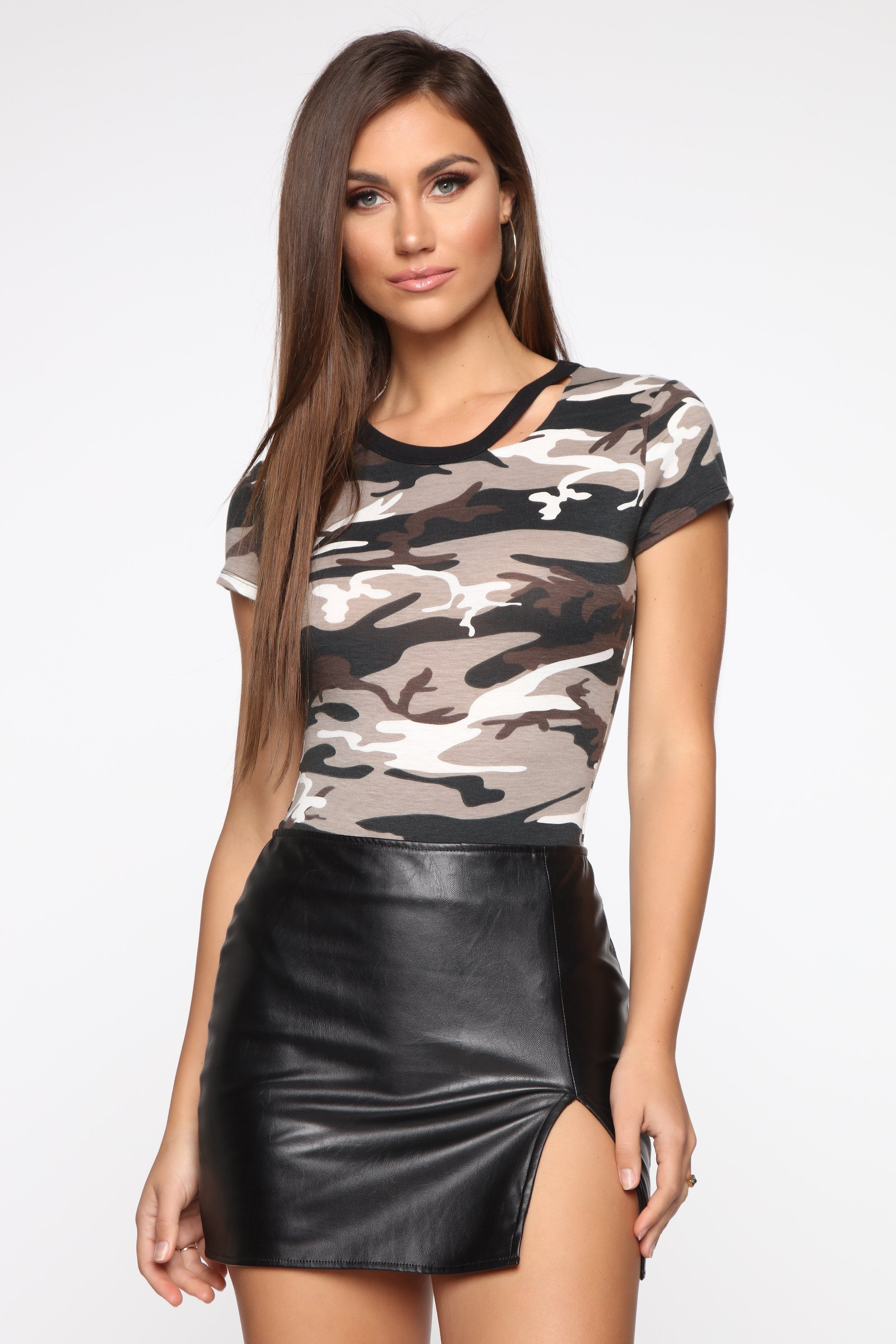 Searching For You Bodysuit Grey Camo in 2020 Fashion