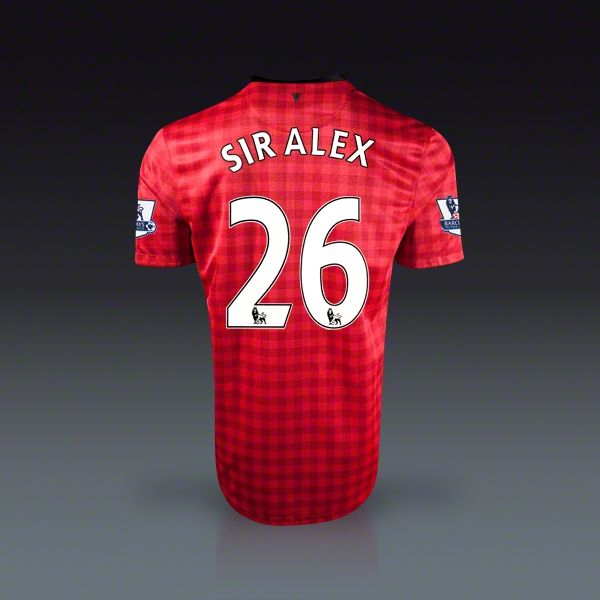 Nike Sir Alex Ferguson Manchester United Home Jersey 12 13 Soccer Jersey Soccer Soccer Balls