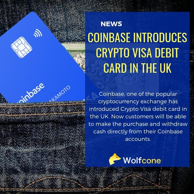 Coinbase introduces crypto visa debit card in the uk