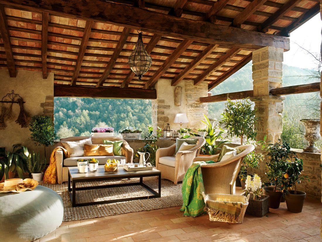 Terraza Urbana Casas Rústicas Casas De Campo Y Casas