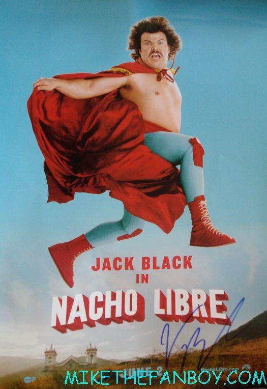 jack black signed nacho libre mini movie poster