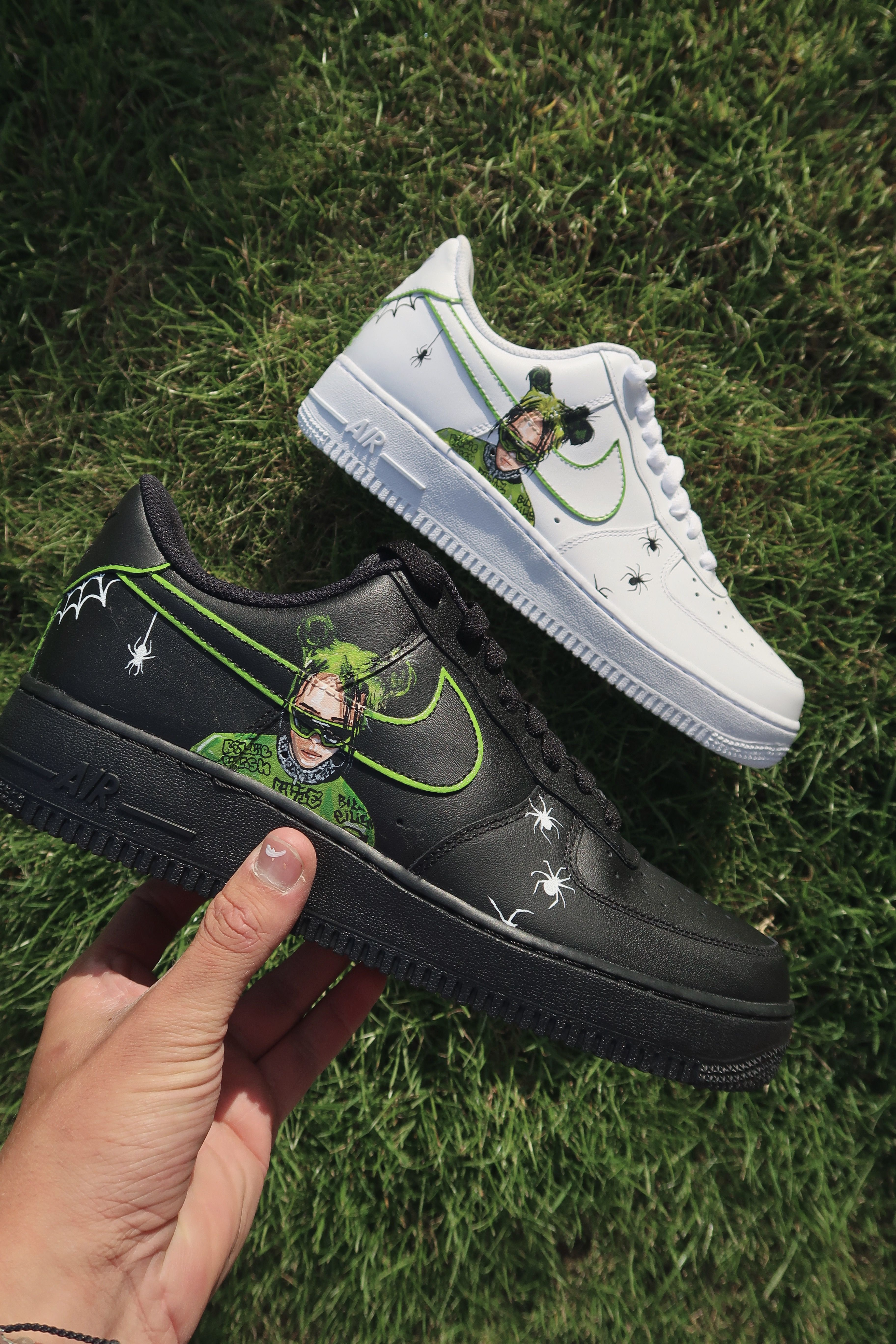 Custom painted AF1's by CamCreatez, available now on