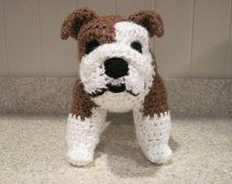 Bulldog Stuffed Animal Crochet Pattern - Digital Download