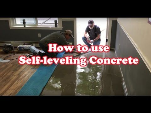 How To Level Uneven Floor With Self Leveling Concrete Building