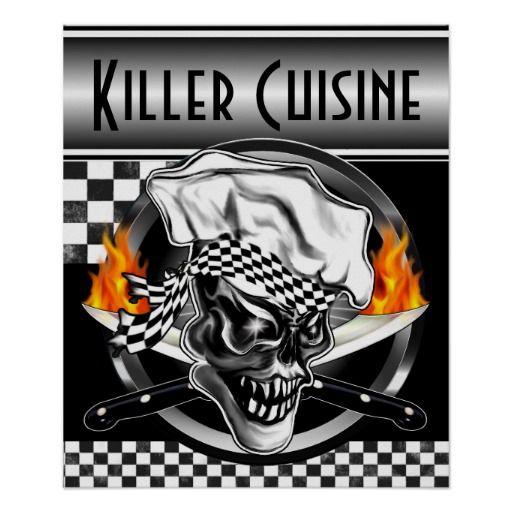 Chef Skull Poster: Killer Cuisine