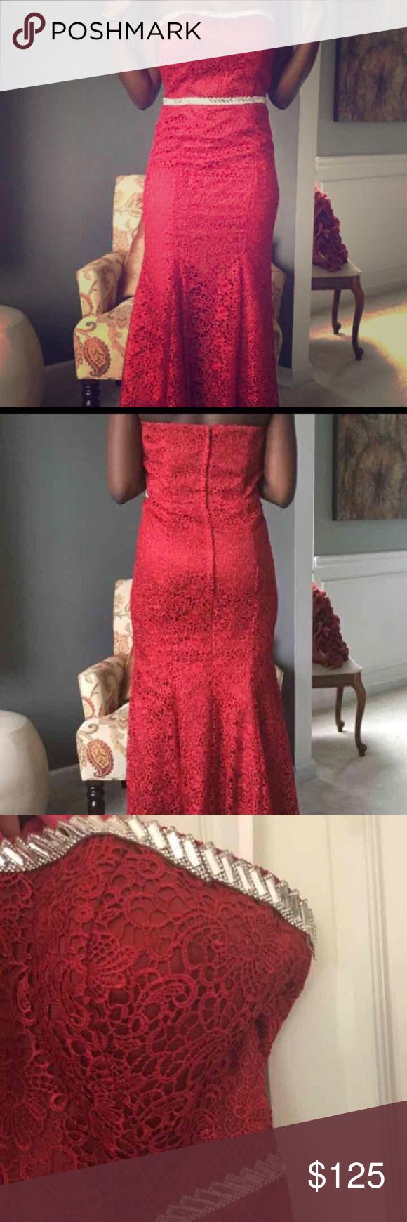 Red prom formal dress burgundy red prom dress maxi full length