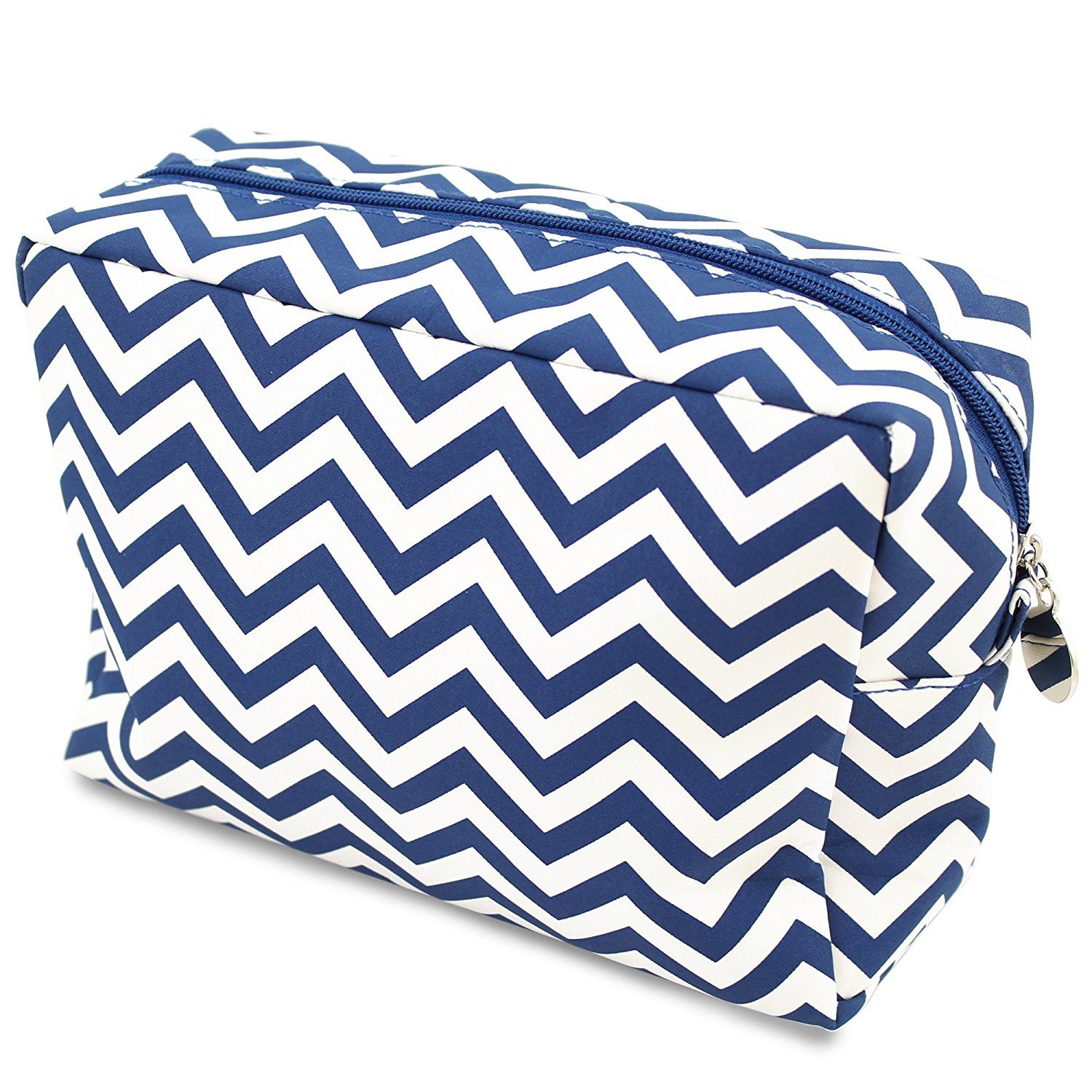 Cathy's Concepts Chevron Spa Bag, Navy Visit the image