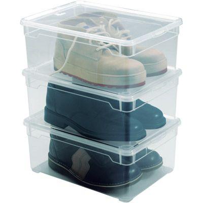 Set De 3 Boites Chaussures Hommes Kristal Rangement Dressing Dressing Castorama Rangement