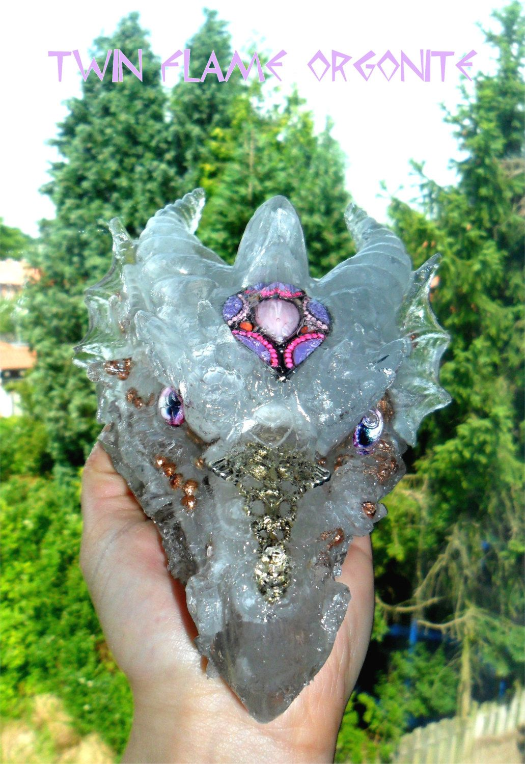 Ayahuasca Crystal Healing Dragon with Shamanic Plant and