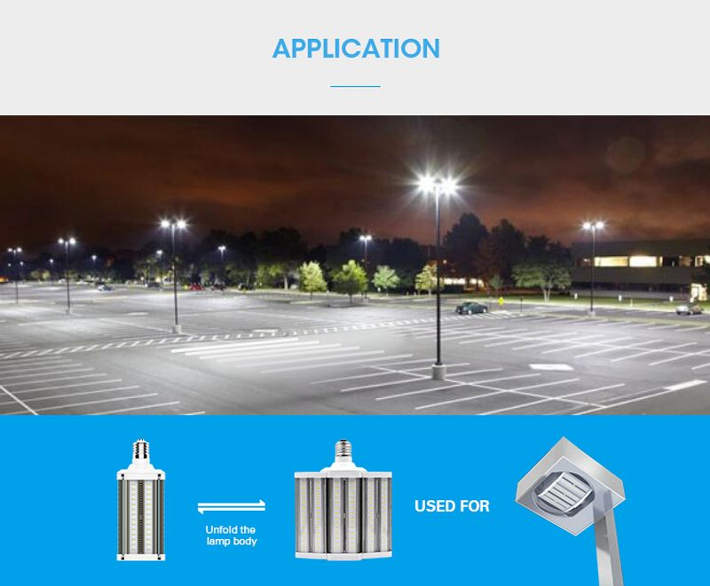 Tp35 Ul Dlc Listed 80w 110w Led Retrofit Bulb The Ideal Solution For Shoebox Fixture Replacement For Led Parking Lot Lights Parking Lot Lighting Canopy Lights