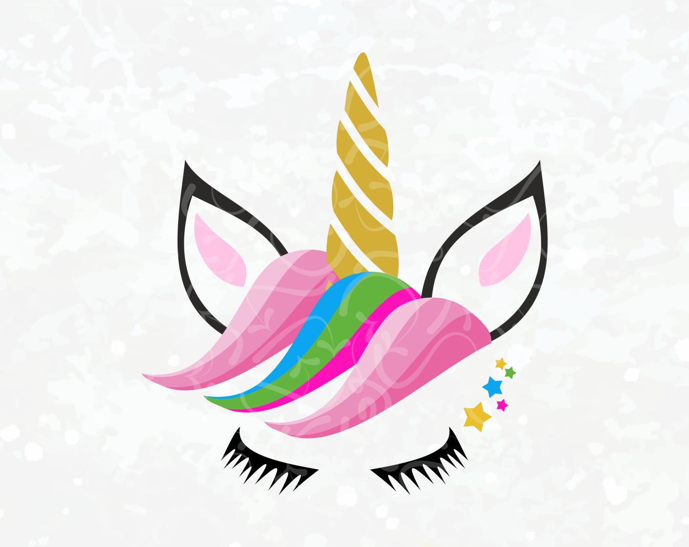 Unicorn Face Vector