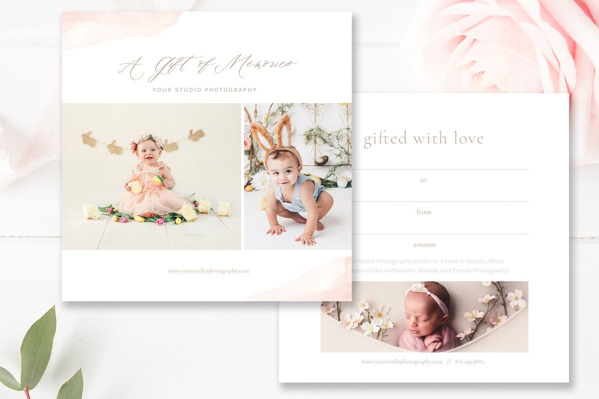 5x5 Gift Card Photoshop Template Photography Gift Certificate Template Photography Gift Certificate Photoshop Template Design