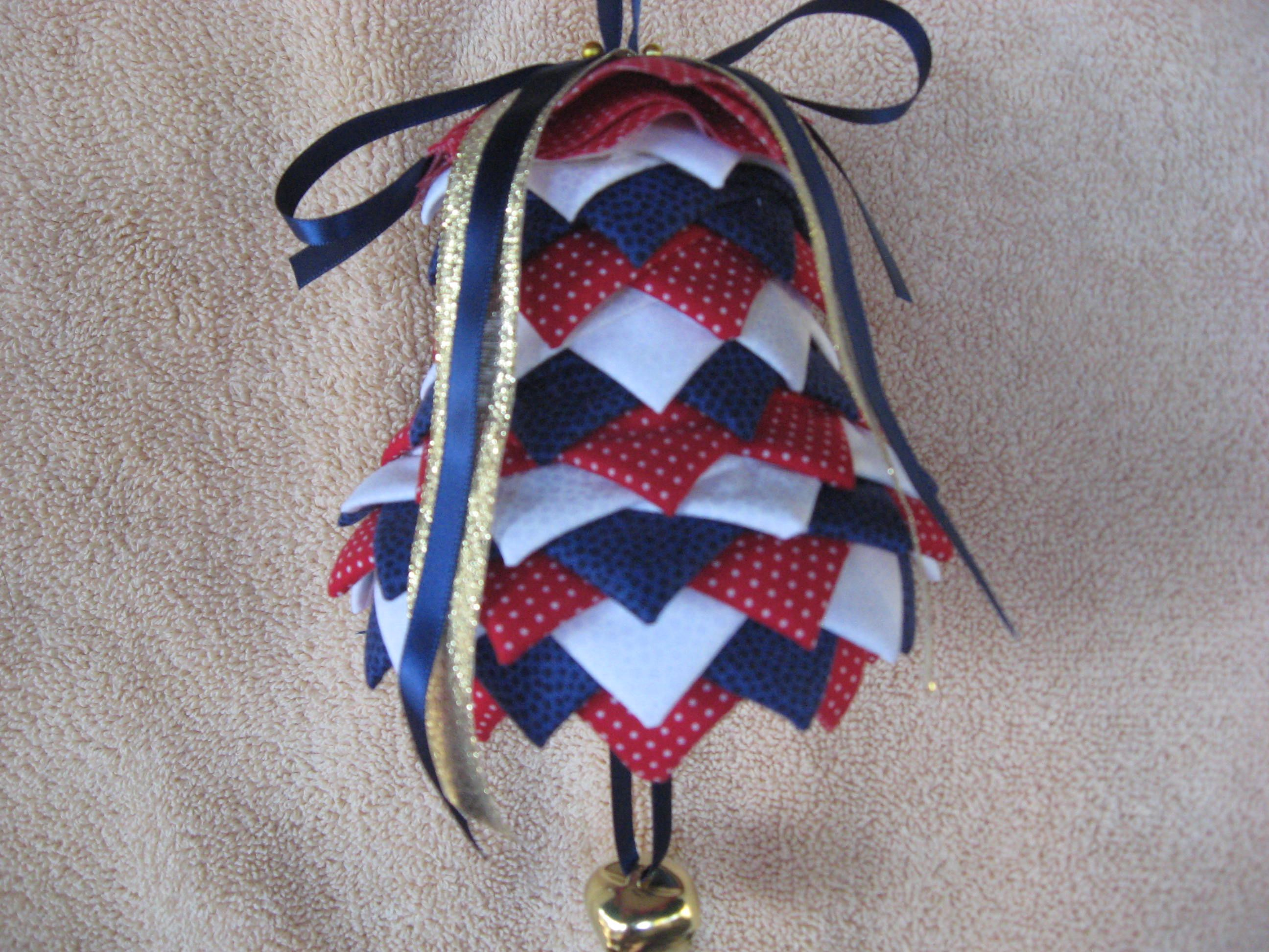 Folded fabric christmas ornaments patterns - No Sew Bell Christmas Ornaments These Handmade Holiday Decorations Will Brighten Your Christmas Tree Year