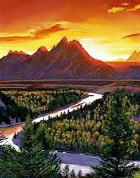 Sunset Painting Mountains - Google Search