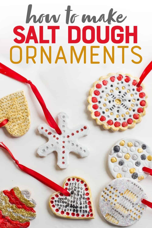How To Make Salt Dough Ornaments Recipe Salt Dough Ornaments Dough Ornaments Salt Dough