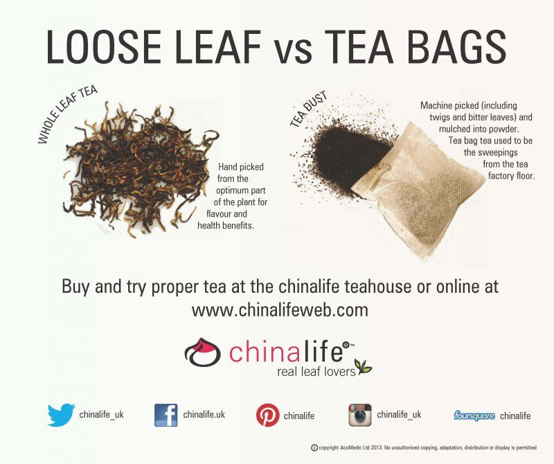 Loose Leafs Vs Tea Bags Leaf Is Better Quality As It Handpicked To Gather The Best Flavour And Vital Health Benefits From