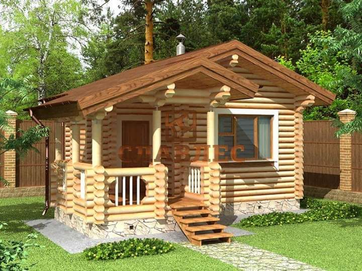 Beautiful Simple Wood House And Log House Design House