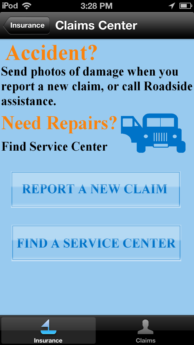 Use this Mobile Insurance Claims Manager app to quickly