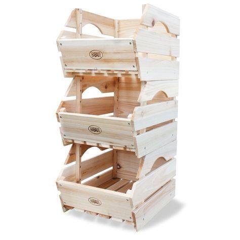 Obst Kiste Holz Lebensmittel Gemüse Stapel Lagerung
