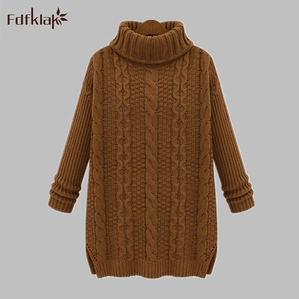 Ladies Turtleneck Sweater Pullover For Women Sweater Thickening ...