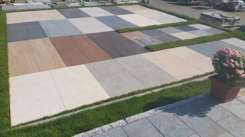 feinsteinzeug terrassenplatten platten 2 cm verlegen