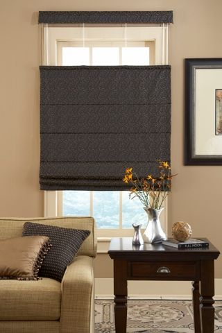 Reverse Fold Roman Shade With Top Down Bottom Up Option Roman