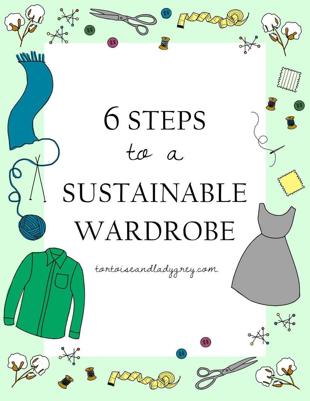 6 Steps To A Sustainable Wardrobe Guide Workbook How To Slim
