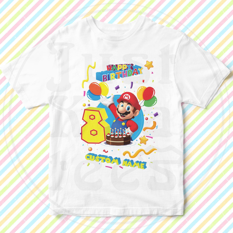 Park Art|My WordPress Blog_Personalized Super Mario Birthday Shirts