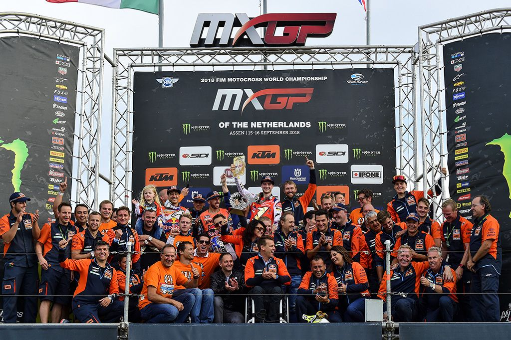 History for Herlings as 2018 MXGP Champion while
