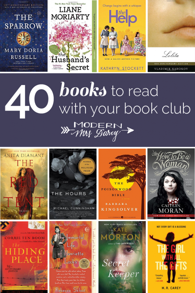 40 Great Book Club Novels Modern Mrs Darcy Book Club Suggestions Book Club Reads Book Club