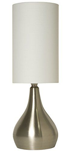19 95 Lightaccents Modern Table Lamp 18 Inches Tall With 3 Way Switch Feature And White Fabric Drums Modern Table Lamp Touch Table Lamps Bedside Lamp Modern